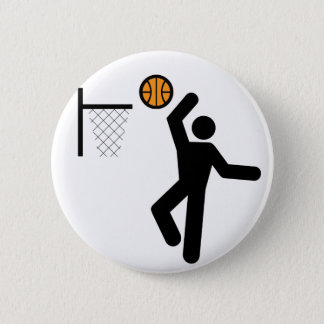 Basketball Symbol Button
