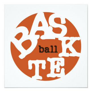 BASKETball T-shirts and Gifts 13 Cm X 13 Cm Square Invitation Card