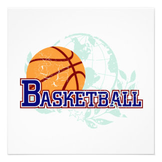 Basketball T-shirts and Gifts Personalized Announcement