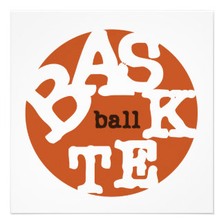 BASKETball T-shirts and Gifts Invites