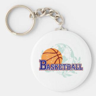 Basketball T-shirts and Gifts Basic Round Button Key Ring