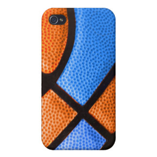 basketball team colors orange and blue case case for iPhone 4