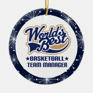 Basketball Team Manager Christmas Ornament