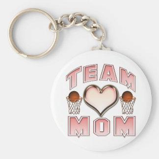 Basketball Team Mom Basic Round Button Key Ring