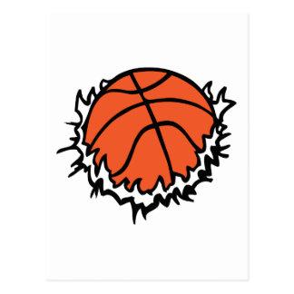 BASKETBALL TEAR POSTCARD