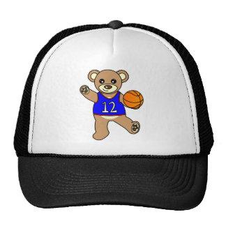 Basketball Teddy Bear Boy - Blue Hat
