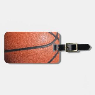 BASKETball texture Luggage Tag