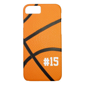 Basketball Texture Personalized # iPhone 7 case