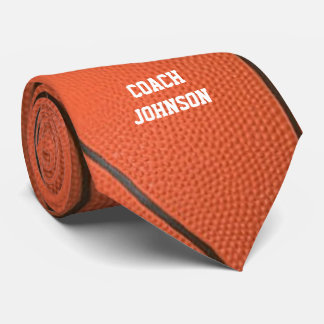 Basketball Texture Personalized Tie