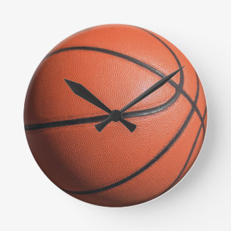 BASKETball texture Round Clock