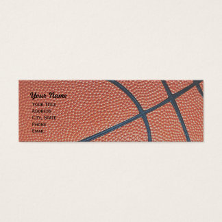 Basketball _textured_r,w,b hoop net skinny mini business card