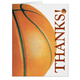 Basketball-Thank You Coach! Big Greeting Card