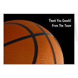 Basketball Thank Your Team Cards