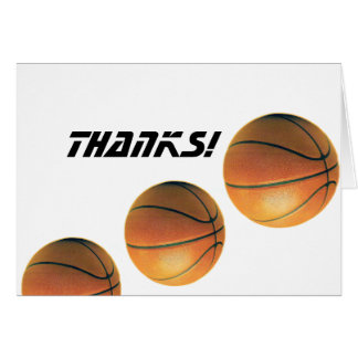 Basketball Thanks Note Card