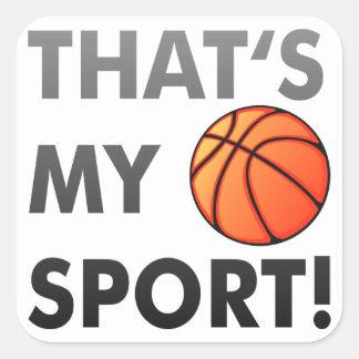 Basketball - that s my sport Aufkleber