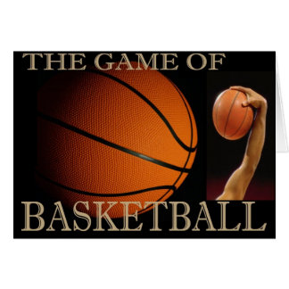 BASKETBALL THE SPORT GREETING CARD