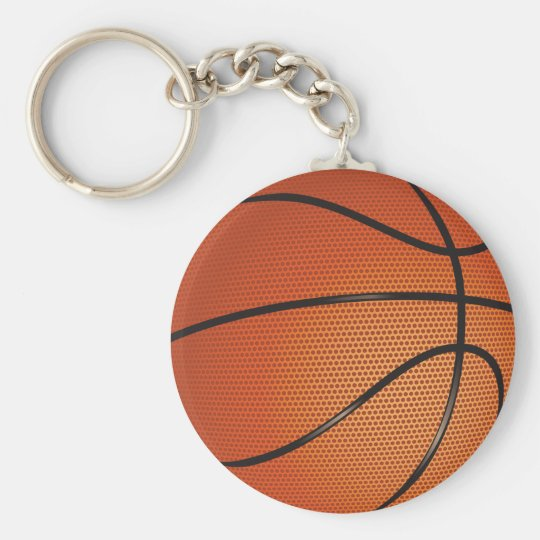 Basketball Theme Basic Round Button Key Ring