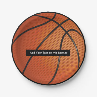 Basketball Theme Party Plates