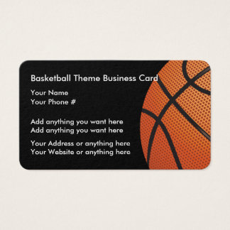 Basketball Theme Profile Cards
