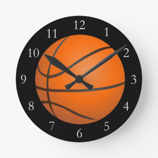 Basketball Theme Round Clock