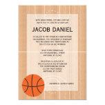 Basketball Themed Bar Mitzvah 13 Cm X 18 Cm Invitation Card