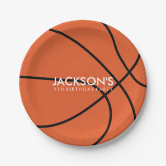 Basketball Themed Birthday Party 7 Inch Paper Plate