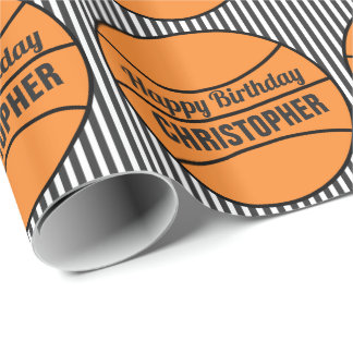 Basketball Themed Birthday Wrapping Paper