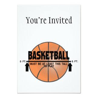 Basketball This Tall To Play 13 Cm X 18 Cm Invitation Card
