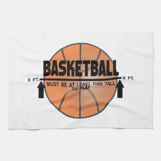 Basketball This Tall To Play Tea Towel