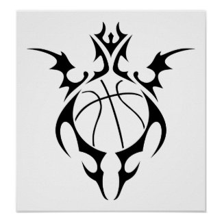 basketball tribalz print