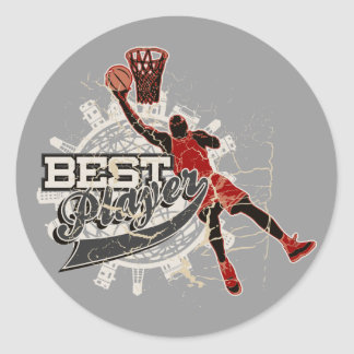 Basketball Tshirts and Gifts Round Sticker