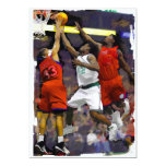 Basketball Two Against One 13 Cm X 18 Cm Invitation Card