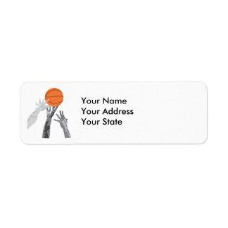 basketball up for grabs vector design return address label