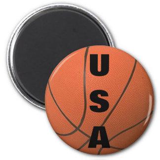 Basketball (USA) 6 Cm Round Magnet