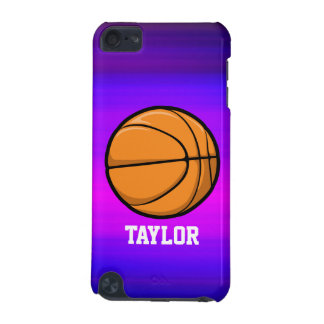Basketball; Vibrant Violet Blue and Magenta iPod Touch (5th Generation) Cases