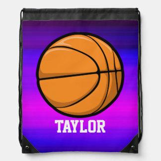 Basketball; Vibrant Violet Blue and Magenta Rucksacks