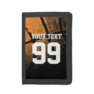 Basketball wallets with custom jersey number