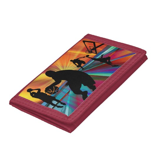 Basketball Warm Up Zoom Perspective Trifold Wallets