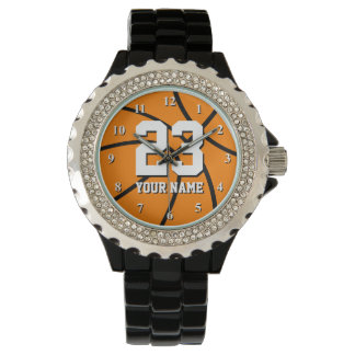 Basketball watch with custom number and name