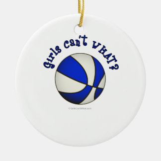 Basketball - White/Blue Products Christmas Ornament