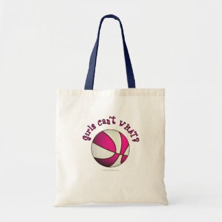Basketball - White/Pink Tote Bag