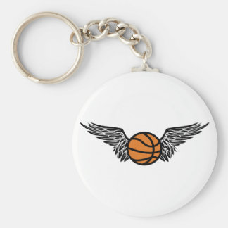 basketball. winged. key chain
