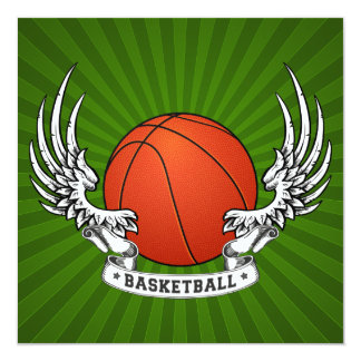 Basketball Wings Invitation