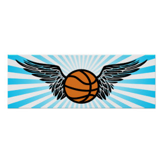 basketball wings print