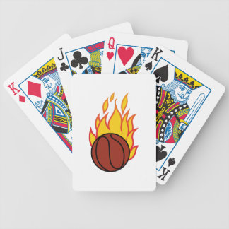 Basketball with Flames Playing Cards