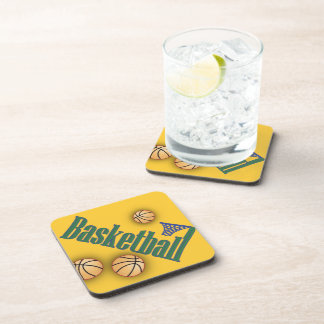 Basketball with Net Drink Coasters