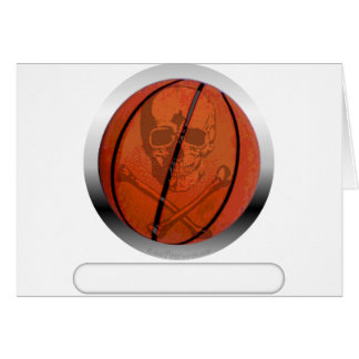 Basketball with Skull- Personalized Greeting Card