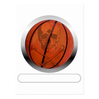 Basketball with Skull- Personalized Postcard