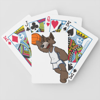 Basketball Wolf Poker Cards
