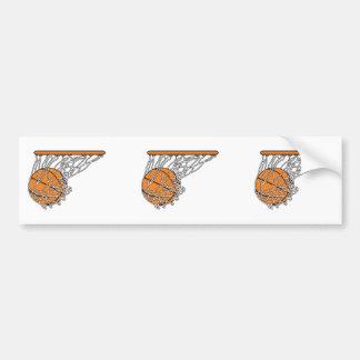 basketball woosh ball in net vector illustration bumper stickers